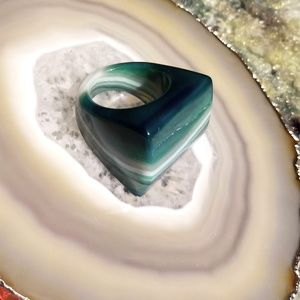 Jewelry - Ring Cut from Authentic Brazilian Agate